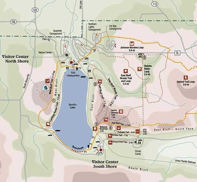devils lake campground map Devil S Lake devils lake campground map